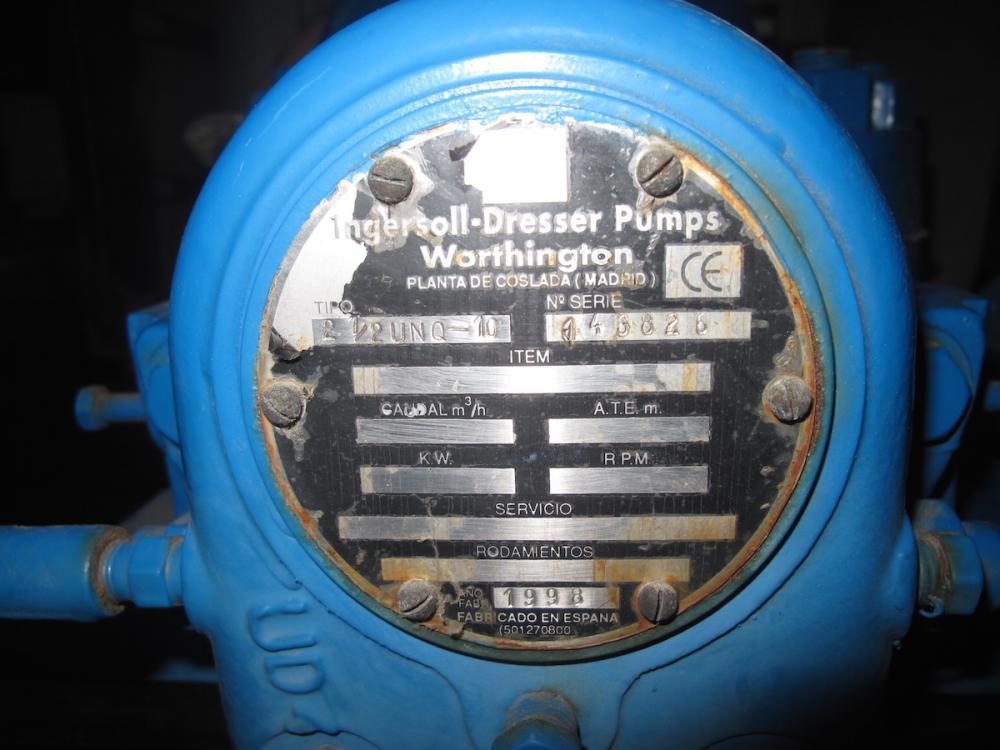 WORTHINGTON feedwater pump
